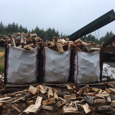 Image Of Bagged Firewood