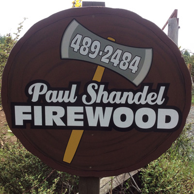 Image Of Firewood Business Sign