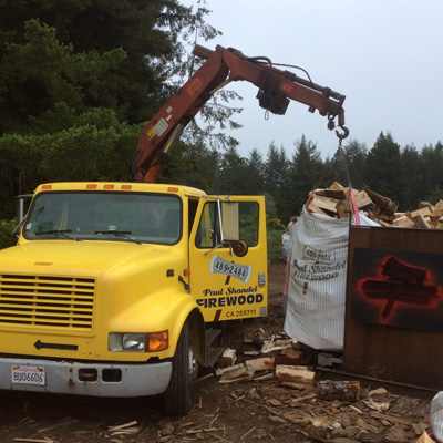 Image Of Firewood Delivery Truck
